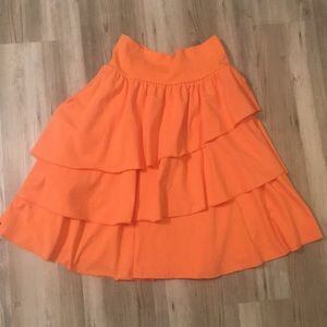 Coral Matilda Jane Tiered Skirt